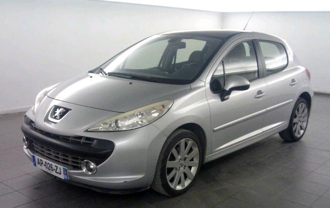 left hand drive car PEUGEOT 207  1.6 16V THP GRIFFE Manua FRENCH