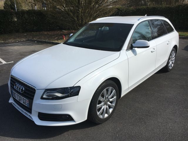 left hand drive car AUDI A4 2.0 TDI AVANT AMBITION LUXE FRENCH REG