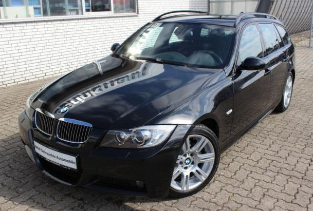 lhd BMW 3 SERIES (12/2007) - BLACK METALLIC - lieu: