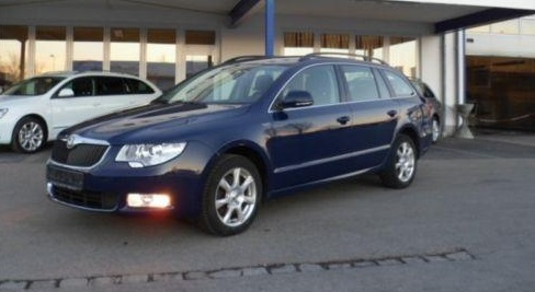 lhd SKODA SUPERB (02/2012) - BLUE METALLIC - lieu: