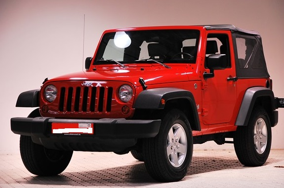 lhd JEEP WRANGLER (07/2007) - RED - lieu: