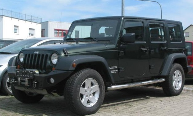 lhd JEEP WRANGLER (10/2010) - GREEN METALLIC - lieu: