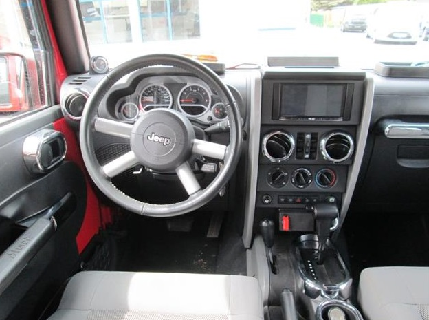 Lhd JEEP WRANGLER (01/2010) - RED - lieu: