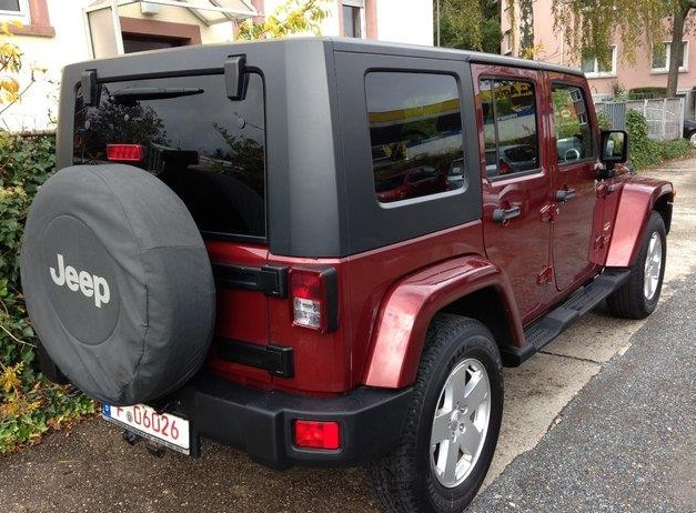 JEEP WRANGLER (09/2010) - BORDEUX METALLIC - lieu: