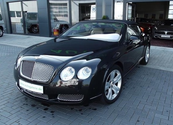 lhd BENTLEY CONTINENTAL GTC (06/2008) - DIAMOND BLACK - lieu: