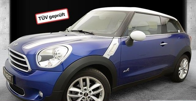 lhd MINI PACEMAN (10/2013) - BLUE METALLIC - lieu: