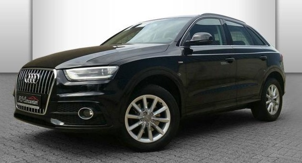 lhd AUDI Q3 (03/2012) - BLACK METALLIC - lieu: