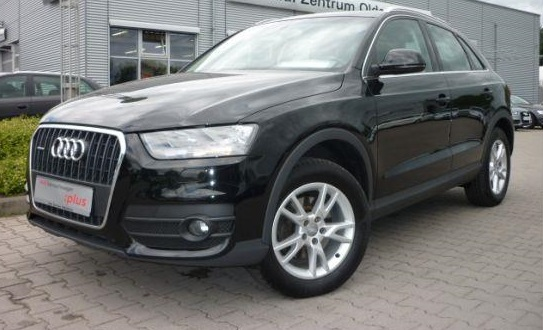 lhd AUDI Q3 (05/2012) - BLACK METALLIC - lieu: