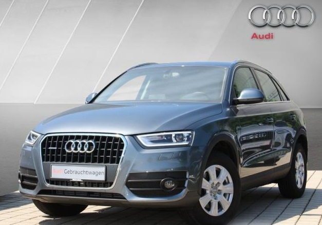 lhd AUDI Q3 (04/2012) - GREY METALLIC - lieu: