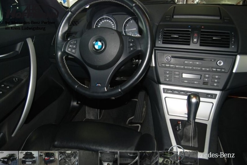 BMW X3 (03/2010) - CARBON BLACK METALLIC - lieu: