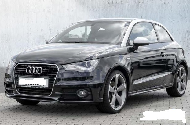 lhd AUDI A1 (03/2011) - BLACK METALLIC - lieu: