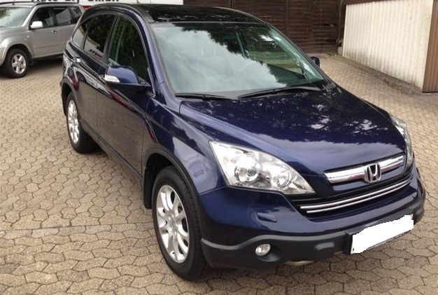 lhd HONDA CR V (04/2008) - BLUE METALLIC - lieu: