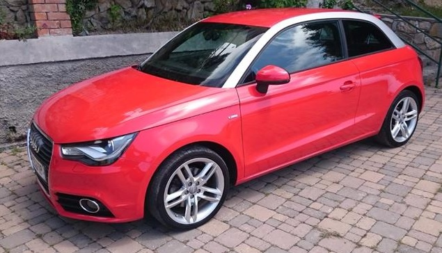 lhd AUDI A1 (12/2010) - RED - lieu: