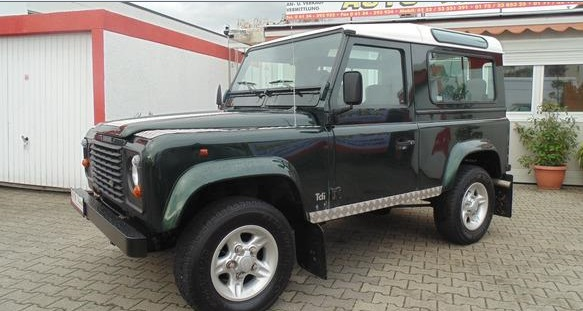 lhd LANDROVER DEFENDER (11/1997) - DARK GREEN  - lieu: