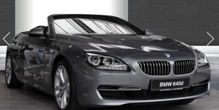 lhd BMW 6 SERIES (09/2014) - GREY METALLIC - lieu: