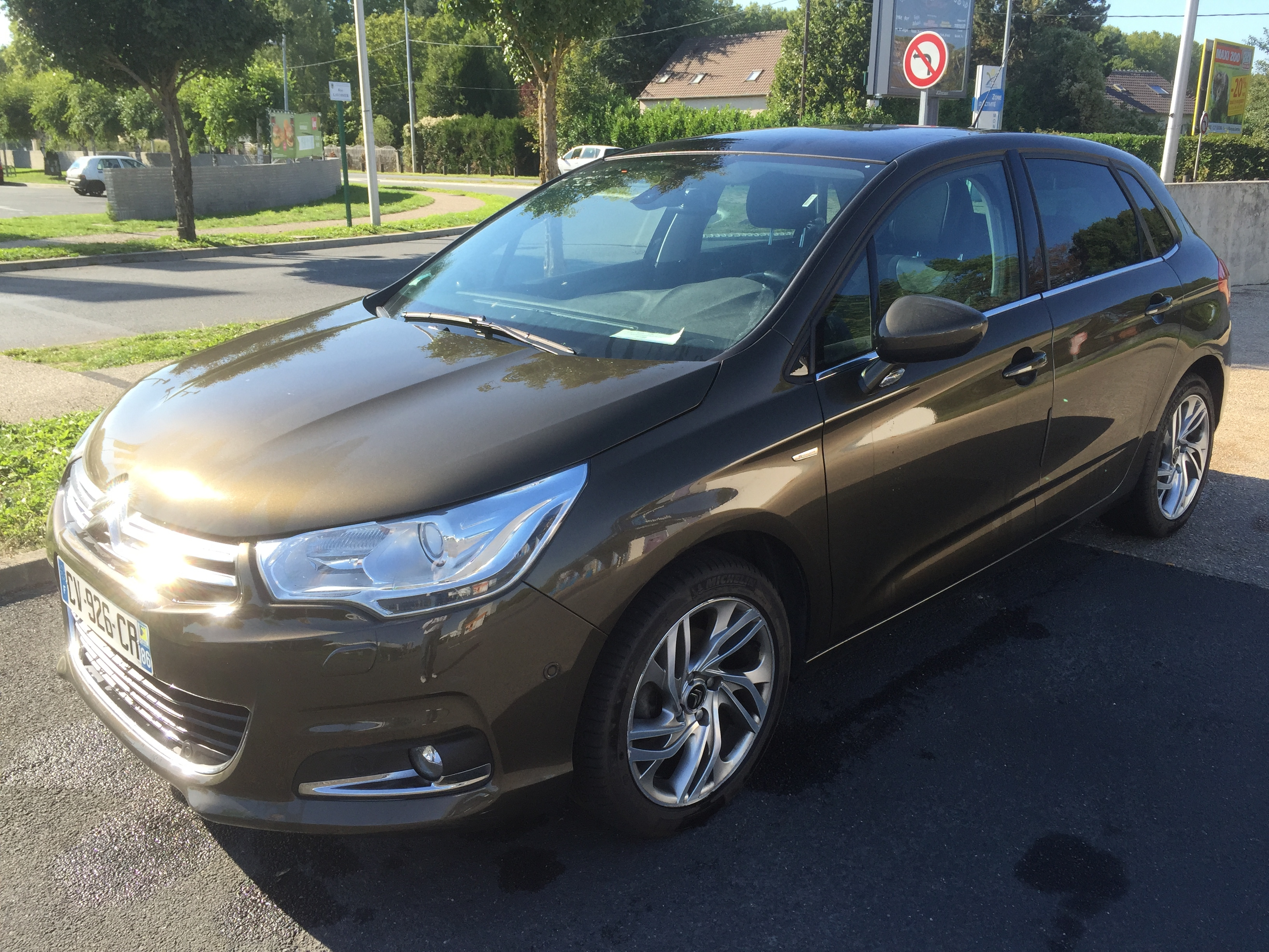 lhd CITROEN C4 (05/2013) - BROWN - lieu:
