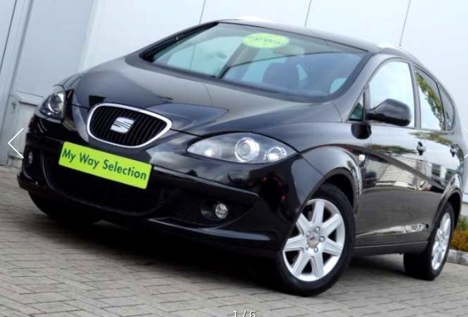 lhd SEAT ALTEA (03/2007) - BLACK - lieu: