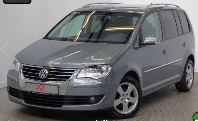 lhd VOLKSWAGEN TOURAN (02/2008) - GREY METALLIC - lieu: