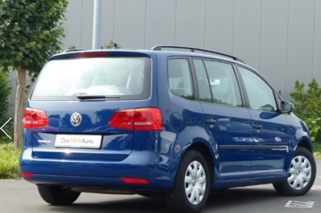 VOLKSWAGEN TOURAN (03/2012) - BLUE METALLIC - lieu: