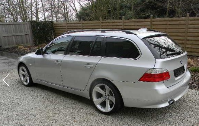 BMW 5 SERIES (11/2009) - SILVER METALLIC - lieu: