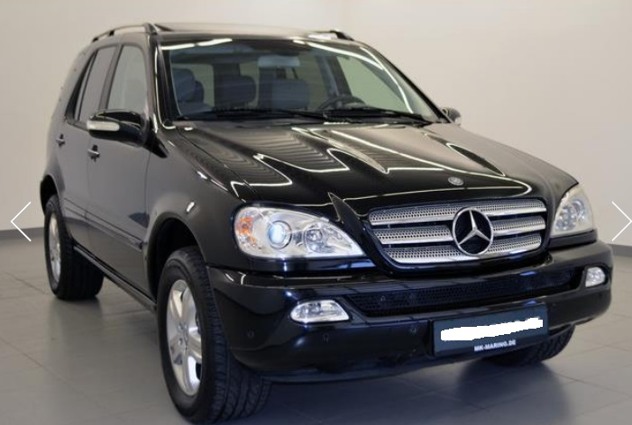 left hand drive mercedes ml class ml 270 cdi final edition. Black Bedroom Furniture Sets. Home Design Ideas