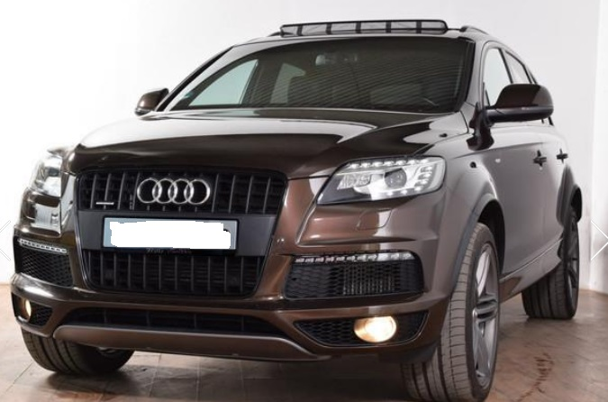 lhd AUDI Q7 (07/2012) - BROWN METALLIC - lieu: