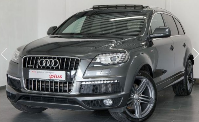 lhd AUDI Q7 (06/2012) - GREY METALLIC - lieu: