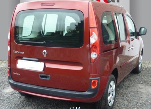 RENAULT KANGOO (01/2012) - RED METALLIC - lieu: