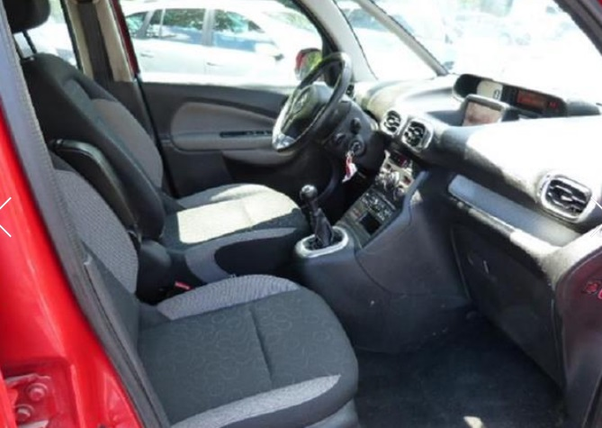 CITROEN C3 PICASSO (05/2011) - RED - lieu: