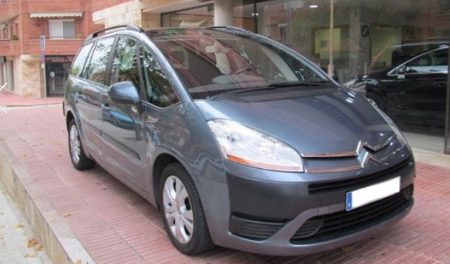 lhd CITROEN C4 GRAND PICASSO (05/2008) - BLUE/GREY METALLIC - lieu: