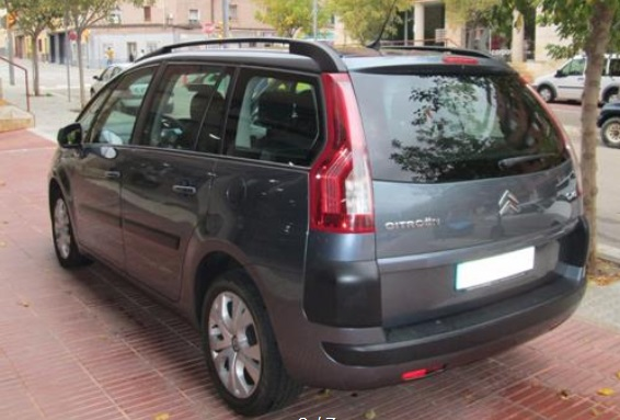 CITROEN C4 GRAND PICASSO (05/2008) - BLUE/GREY METALLIC - lieu: