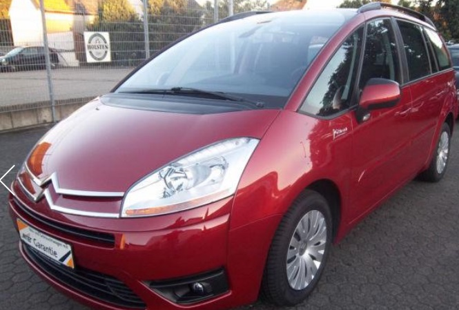 Lhd CITROEN C4 GRAND PICASSO (08/2010) - RED METALLIC - lieu: