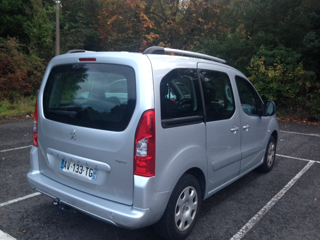 Left hand drive PEUGEOT PARTNER 1.6 HDI TEPEE FRENCH REGISTERED