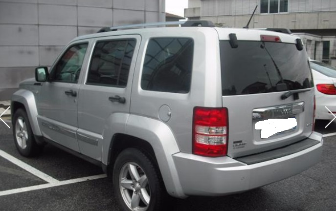 Left hand drive car JEEP CHEROKEE (12/2008) - SILVER METALLIC - lieu: