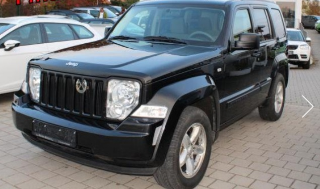 lhd JEEP CHEROKEE (11/2008) - BLACK METALLIC - lieu:
