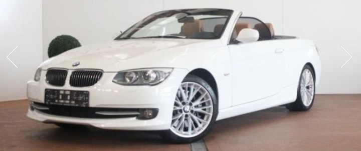 lhd BMW 3 SERIES (10/2010) - WHITE - lieu: