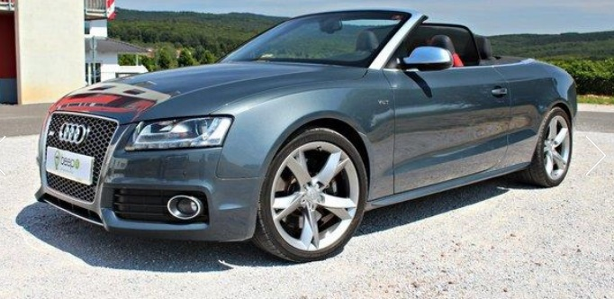 lhd AUDI S5 (09/2010) - GREY METALLIC - lieu: