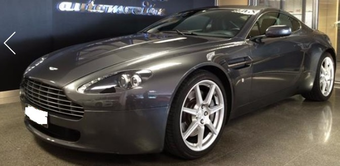 lhd ASTON MARTIN V8 (02/2009) - GREY METALLIC - lieu: