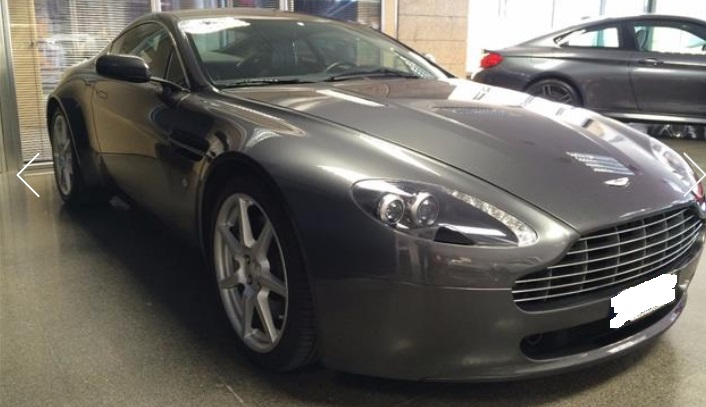 ASTON MARTIN V8 (02/2009) - GREY METALLIC - lieu: