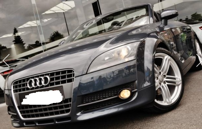 lhd AUDI TT (07/2009) - GREY METALLIC - lieu: