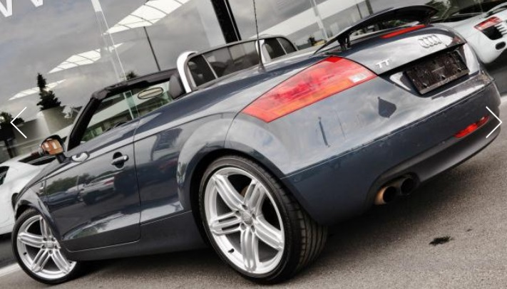 AUDI TT (07/2009) - GREY METALLIC - lieu: