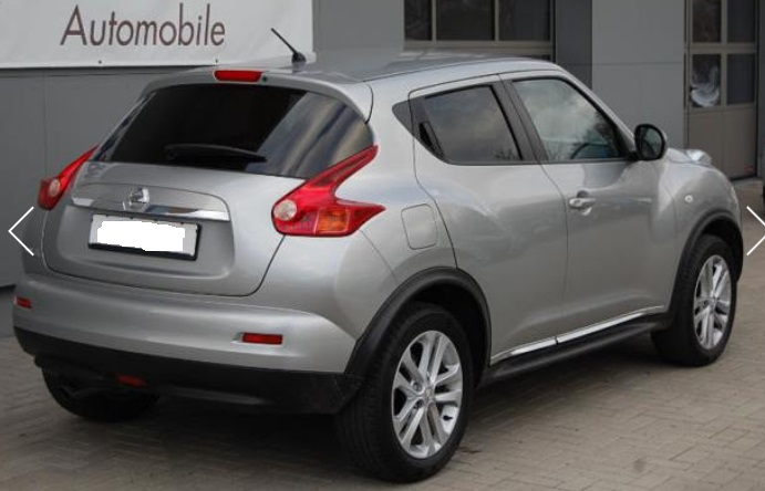 NISSAN JUKE (05/2011) - GREY METALLIC - lieu: