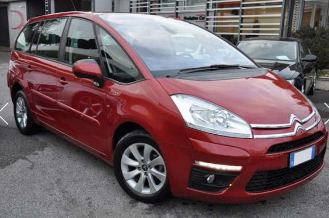 CITROEN C4 GRAND PICASSO 1.6 HDI 110 BHP SEDUCTION ITALIAN REGISTERED