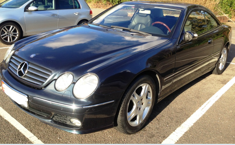 lhd MERCEDES CL CLASS (04/2004) - BLACK METALLIC - lieu: