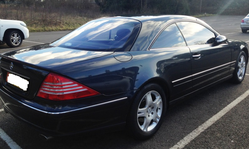 LHD MERCEDES CL CLASS (01/04/2004) - BLACK METALLIC - lieu: