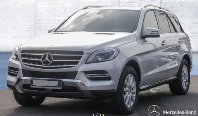 lhd MERCEDES ML CLASS (02/2015) - SILVER METALLIC - lieu: