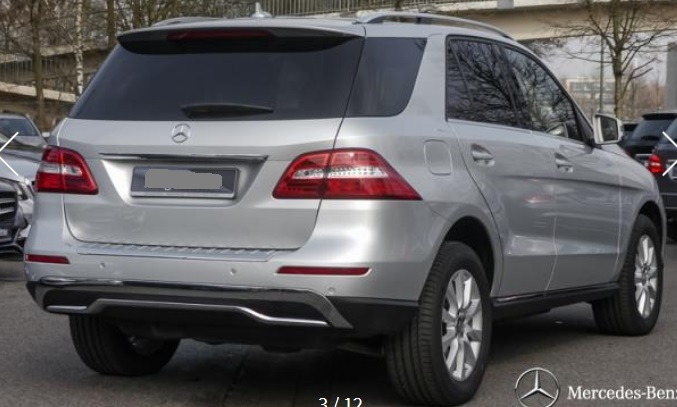 MERCEDES ML CLASS (02/2015) - SILVER METALLIC - lieu:
