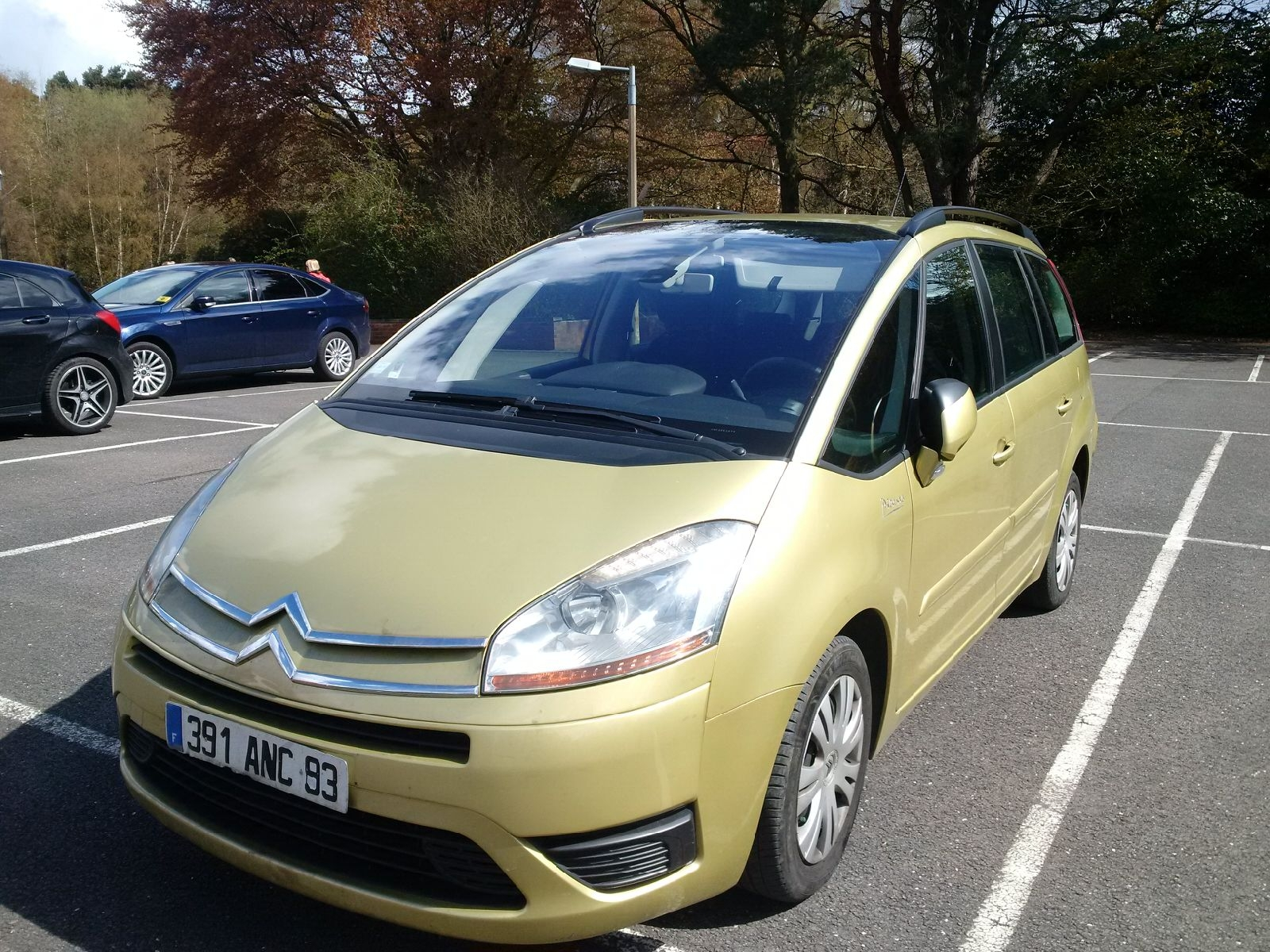 lhd CITROEN C4 GRAND PICASSO (10/2008) - METALLIC GOLD - lieu: