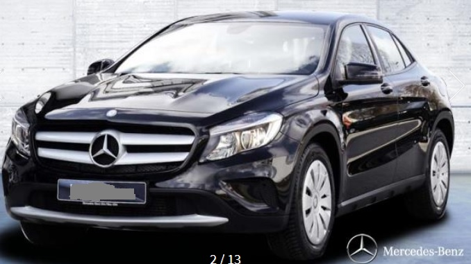 MERCEDES GLA (02/2015) - BLACK - lieu: