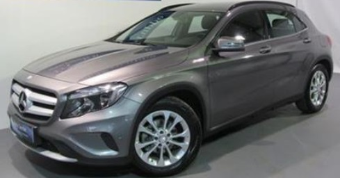 lhd MERCEDES GLA (06/2015) - GREY METALLIC - lieu: